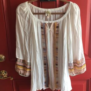 Fig and Flower Anthropologie Boho Shirt